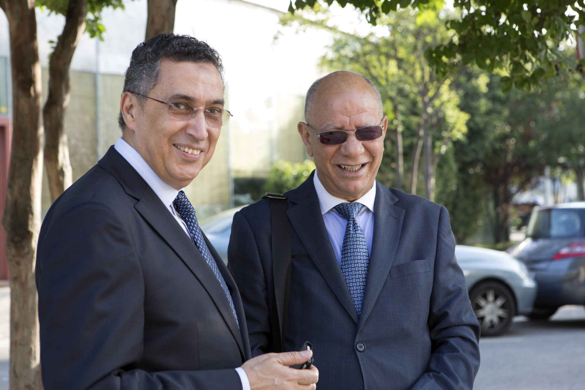 Eng. Anwar El Mezwaghi and Mr. Bouziane Ahmed Khodja from Islam Hoy