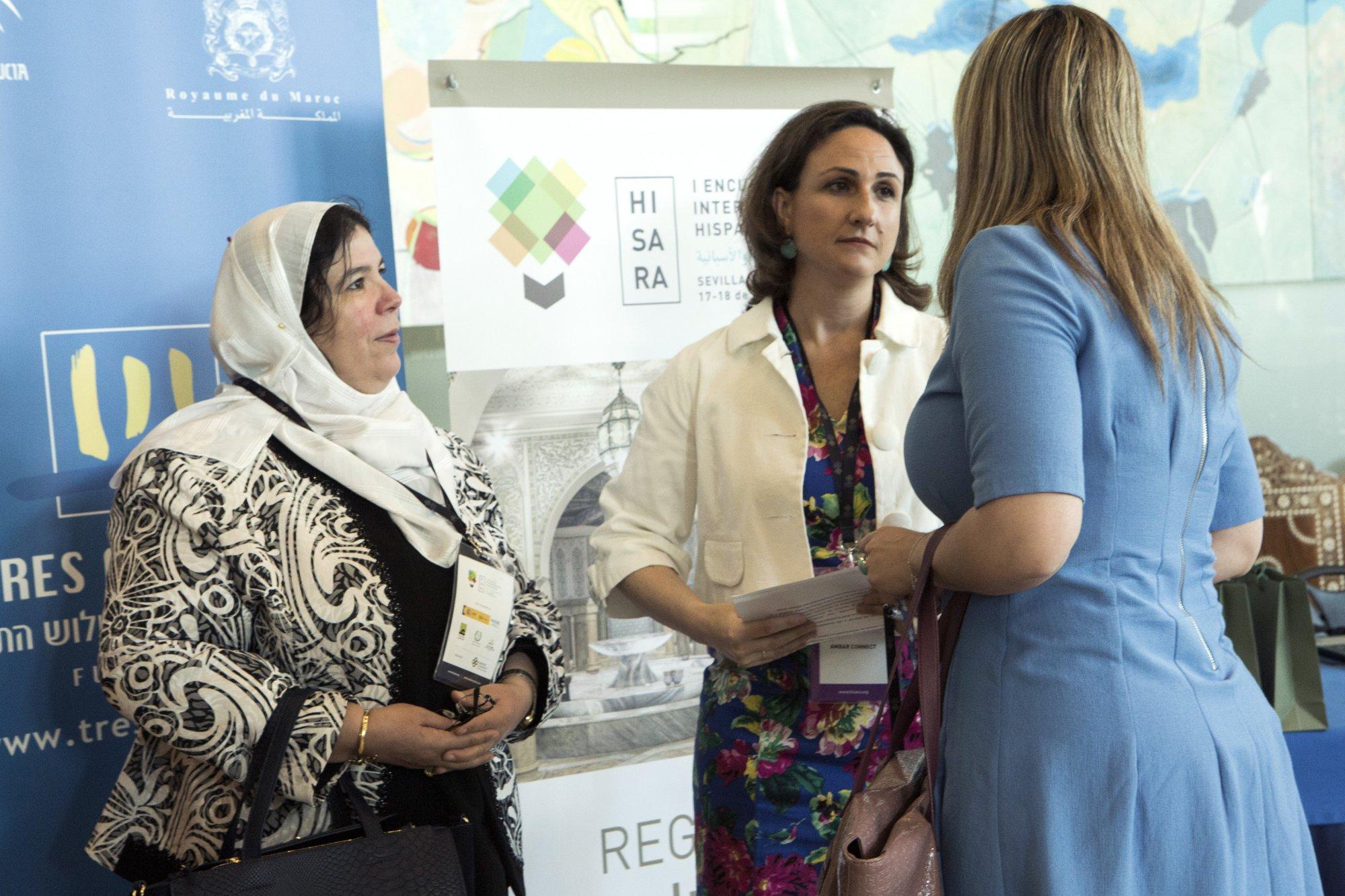 Ms. Derradji Algerian Cultural Attaché and Carolina de Funes