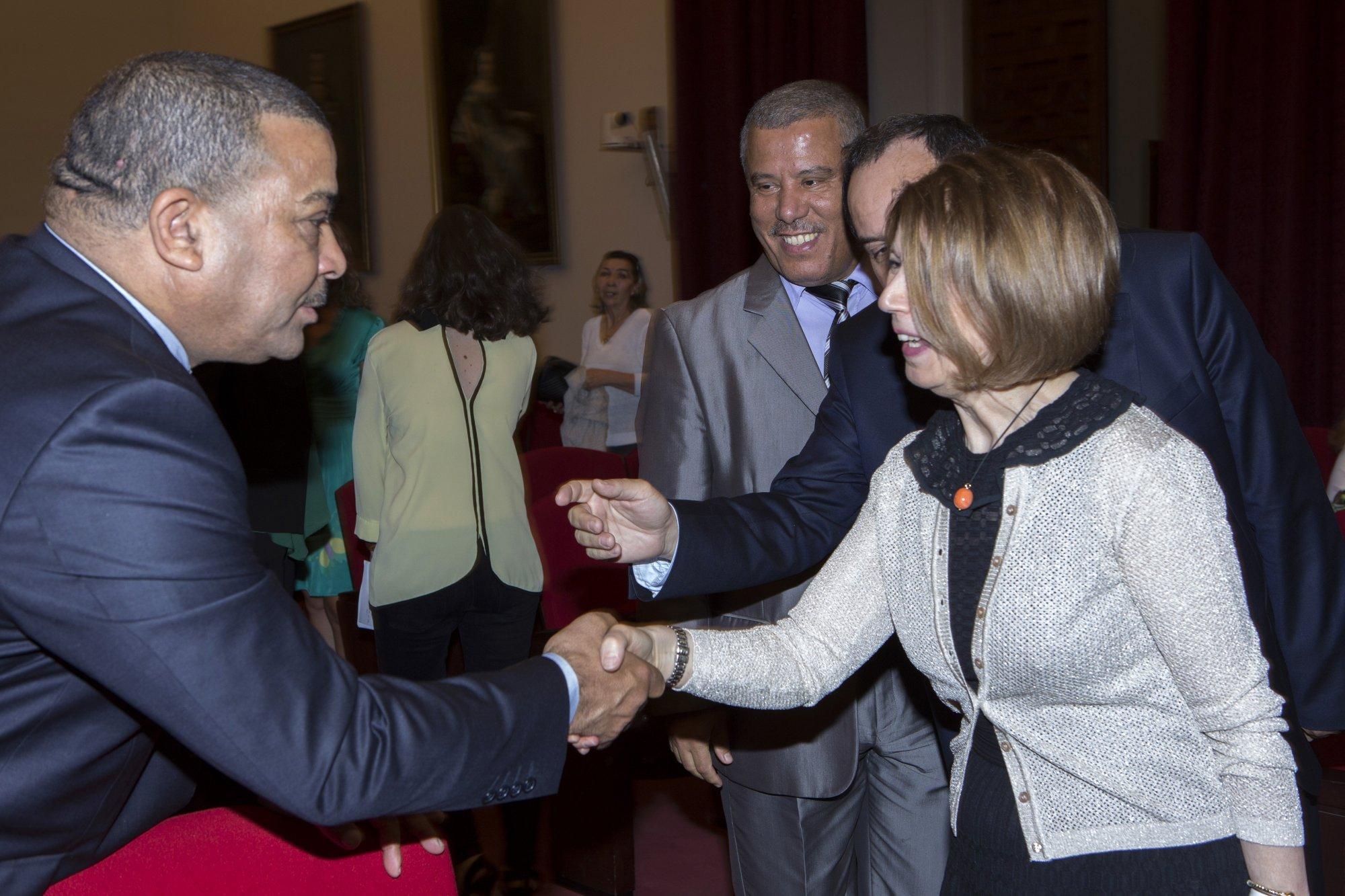 H.E Ms. Taous Feroukhi, Ambassador of Algeria and the Algerian Delegation