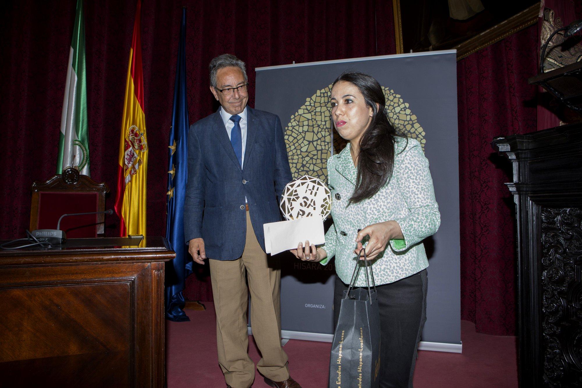 Ms. Rajae El Khamsi from Instituto de Estudios Hispano-Lusos in University Mohammed V and Mr. José Manuel Cervera, Director of Fundación Tres Culturas