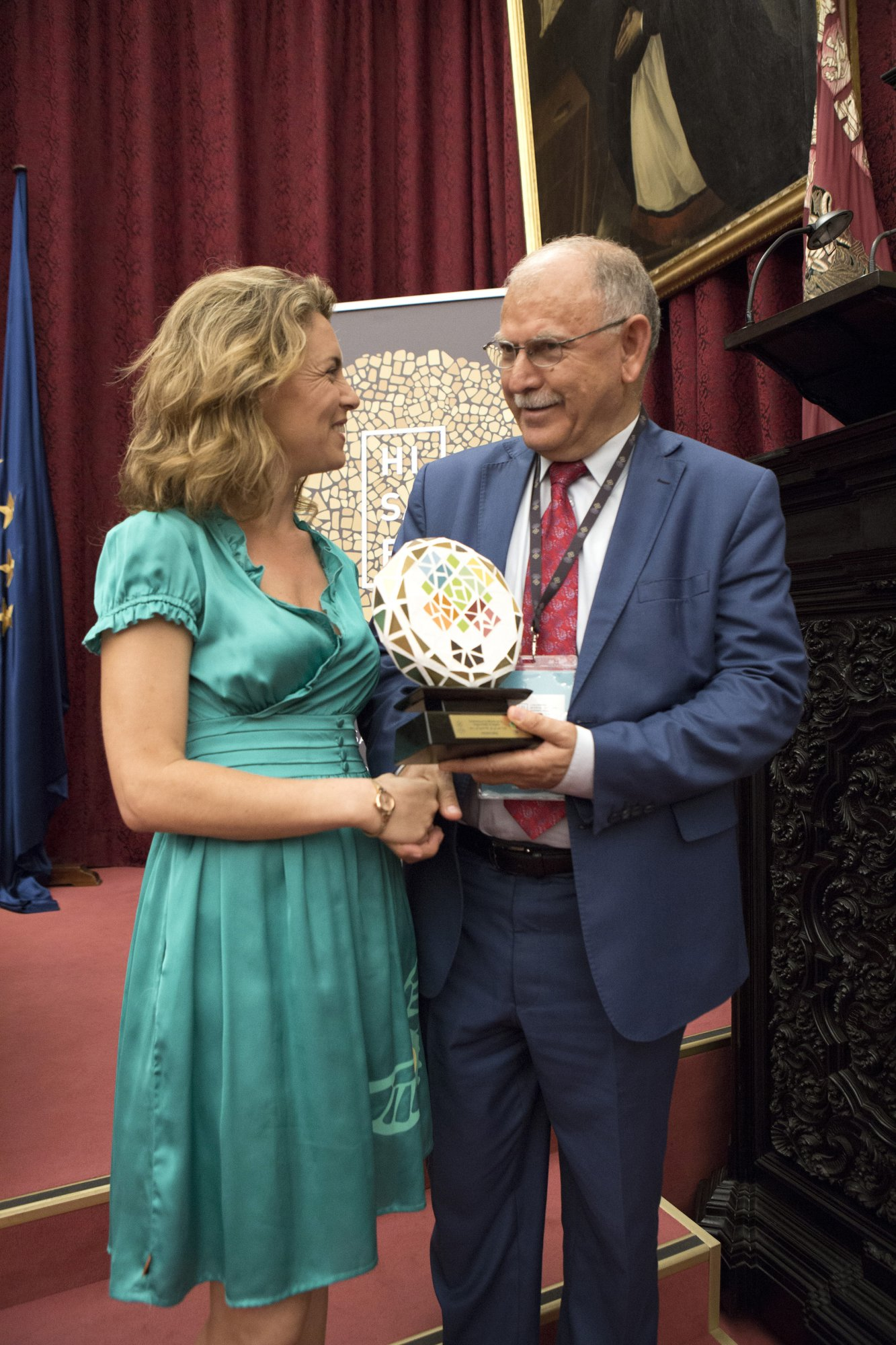 Ms. Pilar Garrido from Universidad de Murcia and Prof. Al Adwan General Secretary of the Association of Arab Universities