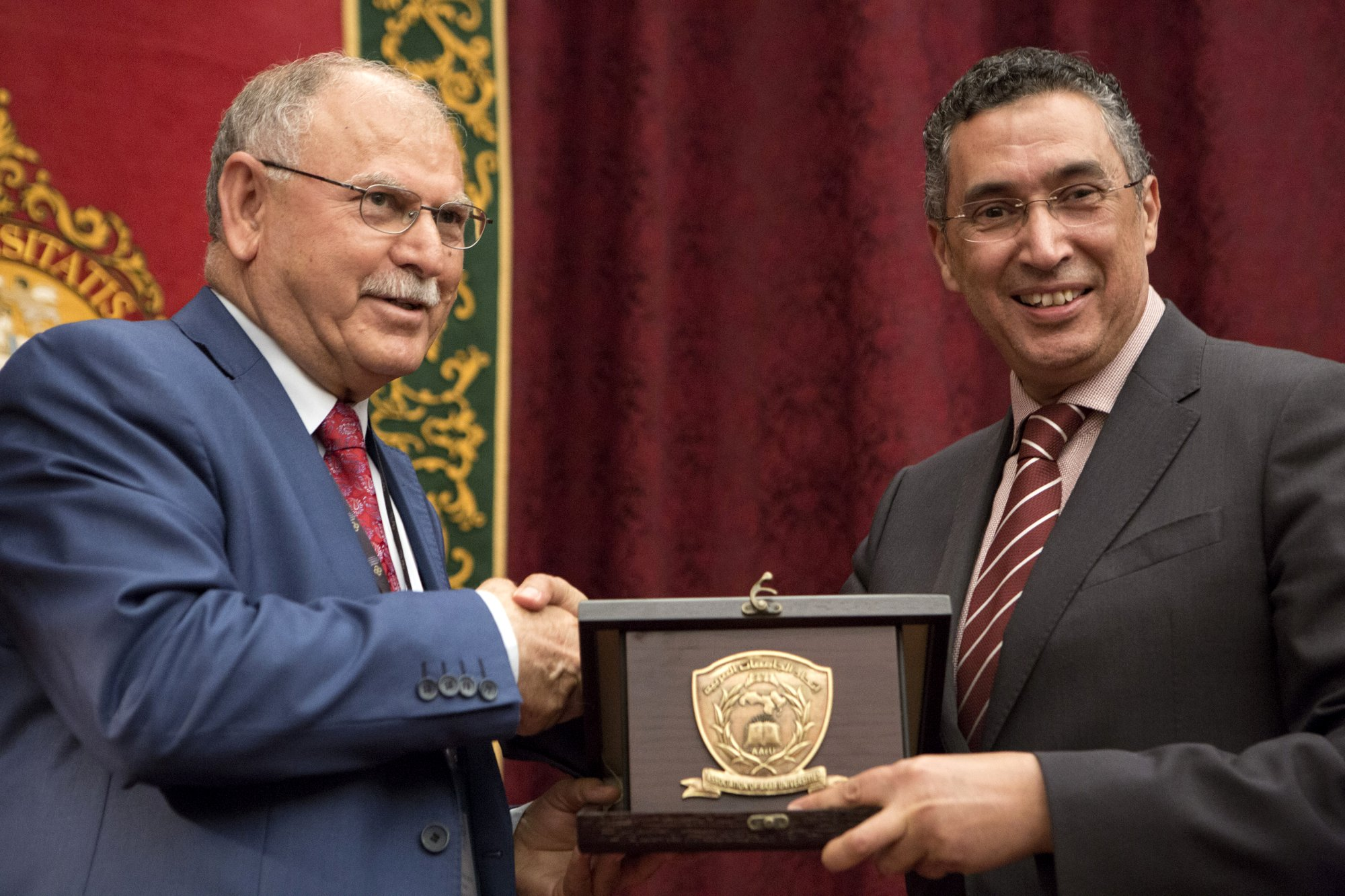 Eng. Anwar El Mezwaghi and Prof. Al Adwan General Secretary of the Association of Arab Universities