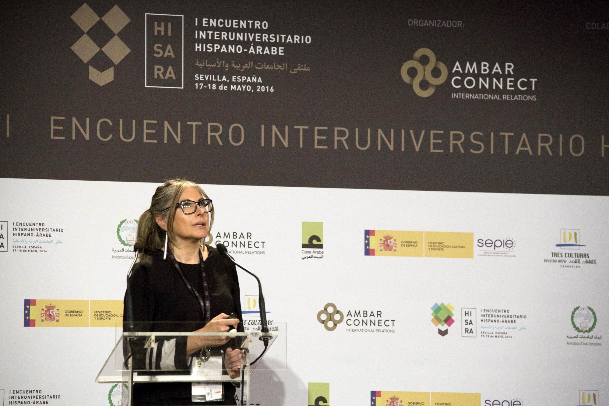 Ms. Helena Martínez from Universitat Politècnica de Catalunya at HISARA 2016 Opening Ceremony